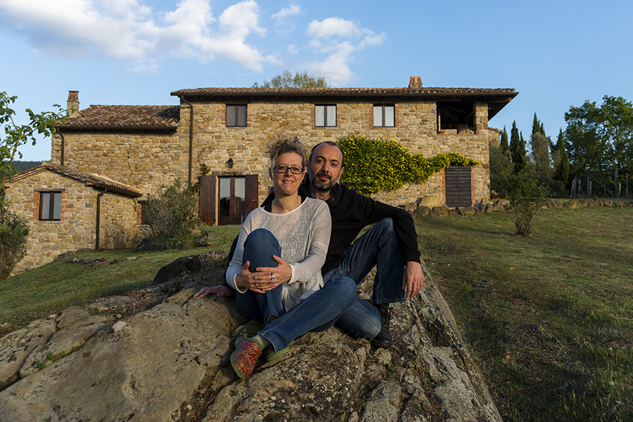 Emma and Ezio at Oakfield Campo delle querce Umbria